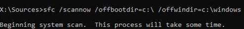 sfc /scannow offline: offbootdir offwindir