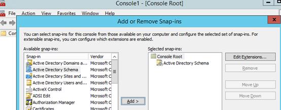 add Active Directory Schema