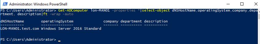 Get-ADComputer - get computer properties