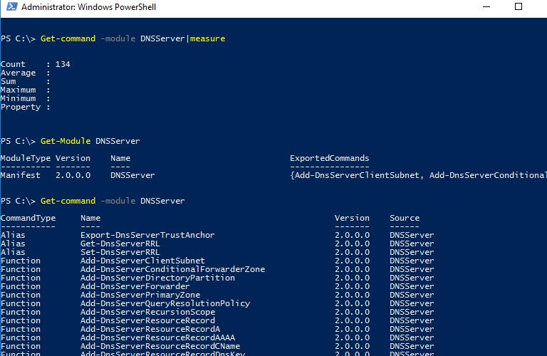 Get-Module DNSServer