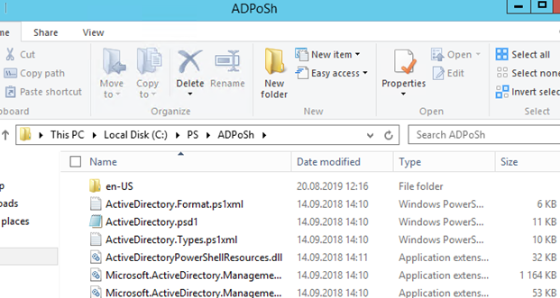 Microsoft.ActiveDirectory.Management.dll - copy active directory for powershell module files
