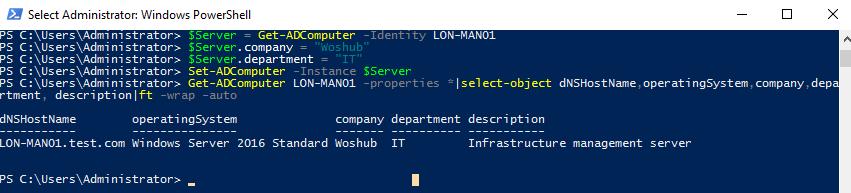 Set-ADComputer - update computer object properties using powershell