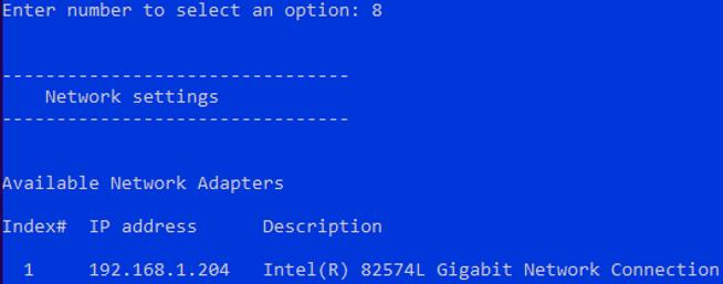 configuring ip addres on hyper-v server