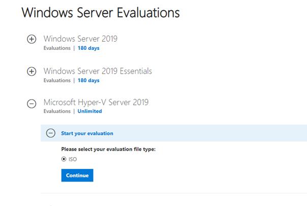 download microsoft hyper-v server 2019 iso image