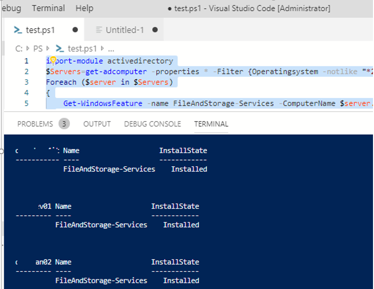 find windows server in ad domain with specific role installed