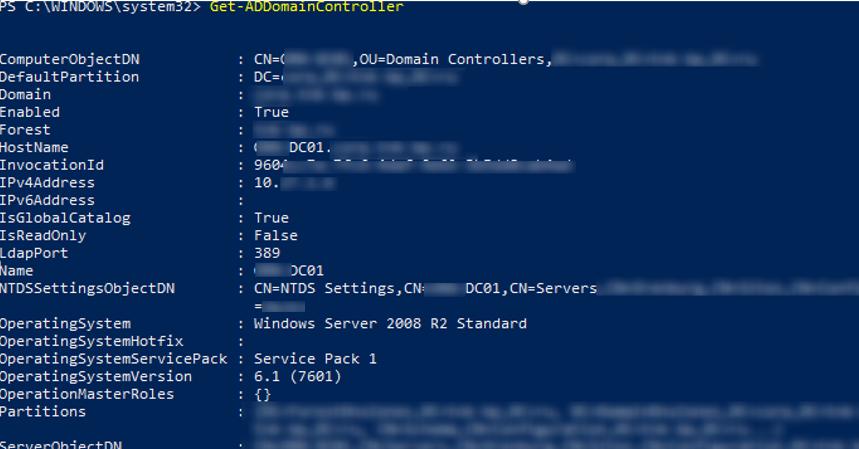 Get-ADDomainController - get full DC info via powershell