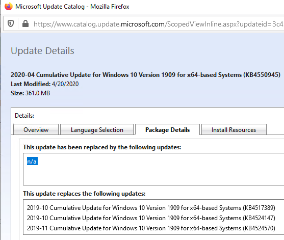 get latest security update kb for windows 10
