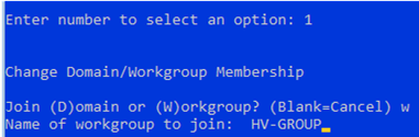 join hyper-v to domain or workgroup