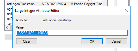 lastLogonTimestamp ad attribute