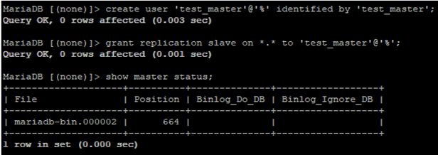 mariadb get bin_log for replication partner