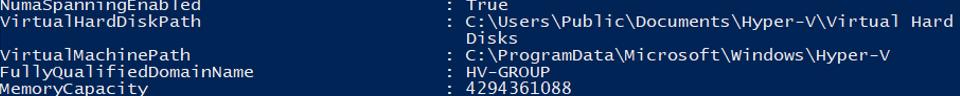 Set-VMHost - change hyper-v server settings via powershell
