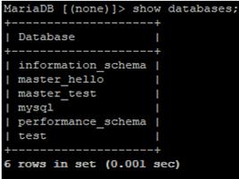 show database
