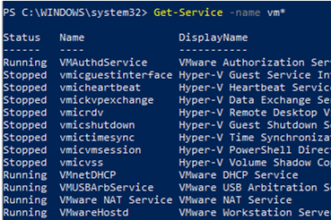 Check Windows Service Status with Get-Service