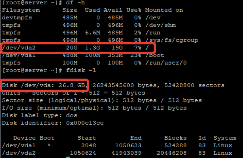 extend a partition on linux centos vm