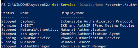 powershell get services