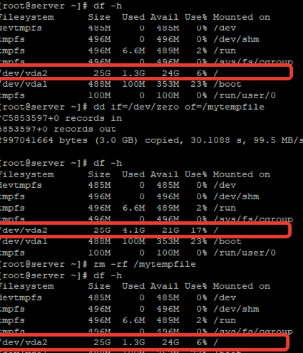 Qcow2 disk format file size