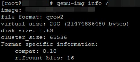 qemu-img info - get-kvm virtual disk size