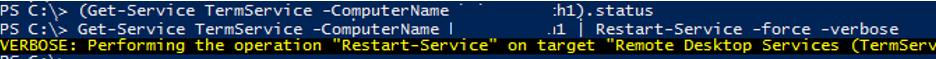 restart TermService powershell