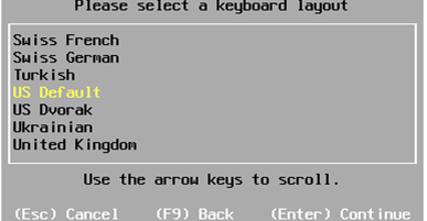 select kb layout