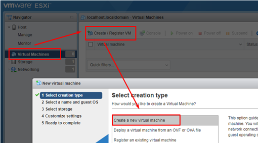 vmware - create new VM