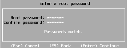 vmware esxi: set root password