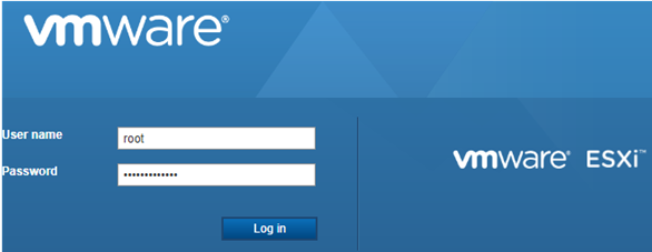 vmware feree esxi web interface
