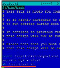 add sh script to rc.local