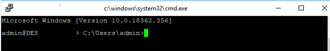 cmd.exe shell in windows ssh session