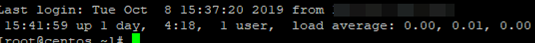 show uptime on ssh connect