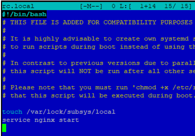 using rc.local to run command on linux stratup