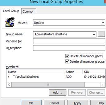 add domain user group to the local admin group using gpo