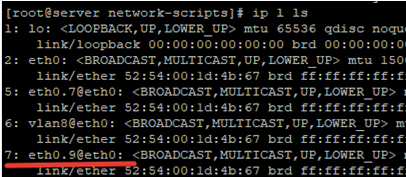 configure temp VLAN interface using vconfig on linux centos/rhel