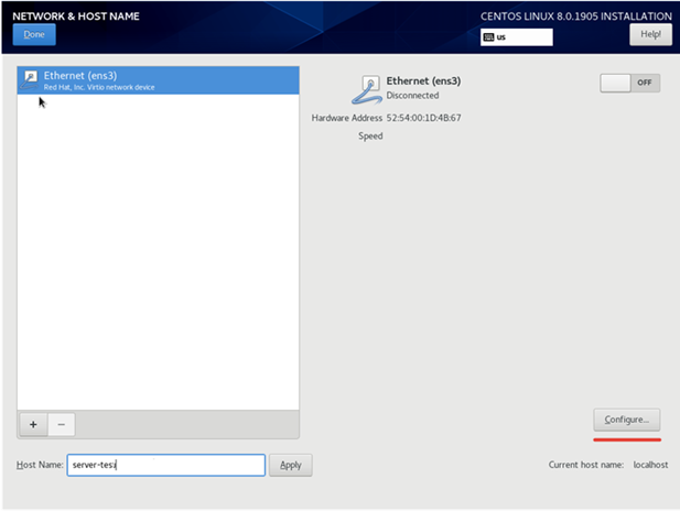 configuring ethernet interfaces during centos install