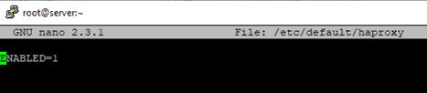 enable haproxy