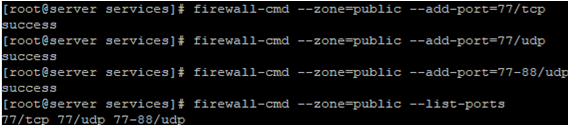 firewall-cmd adding runtime and permanent firewalld rules