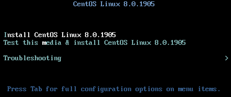 install centos 8 from iso imange
