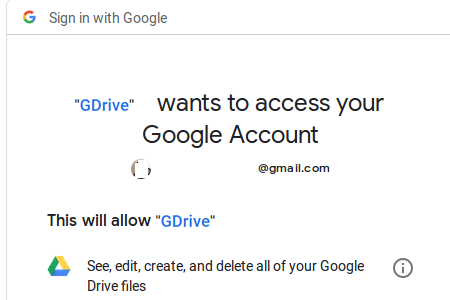 allow access google drive
