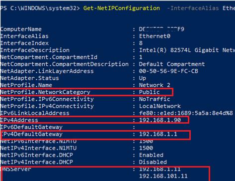 Get-NetIPConfiguration detailed info
