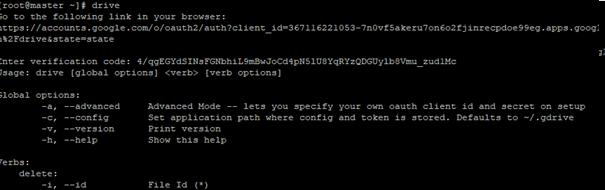 google drive client on linux