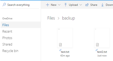 upload file from linux to onedrive