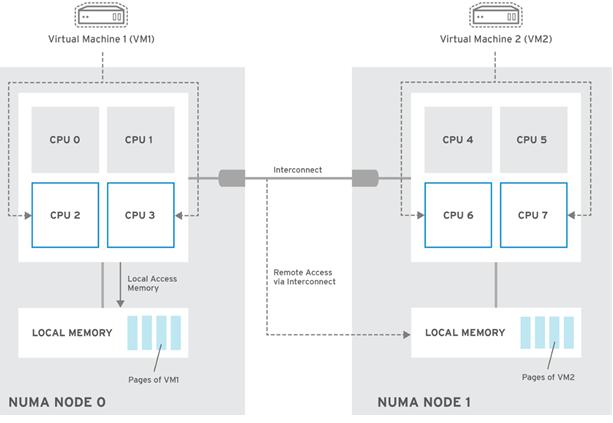 virtual machine vCPU nubmer and NUMA architecture