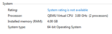 Windows Virtual Machine Sees Only 2 processors