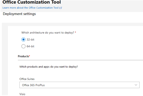 Customize Office 365/2019 installation with office customization tool