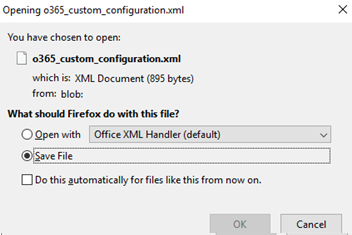 download odt xml file with custom office settings