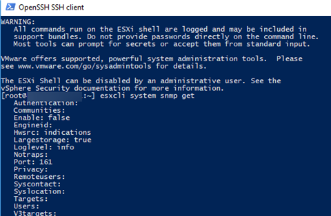 esxcli system snmp get