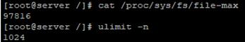 get default open file limit in LInux