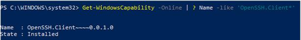 install openssh client on windows 10