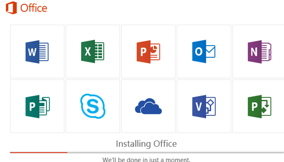 office 365/2019 install all available apps at once