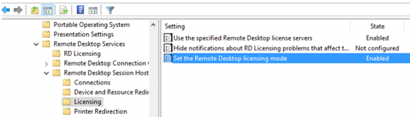 GPO Use the specified Remote Desktop license servers