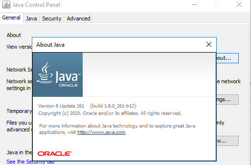 java oracle applet - version